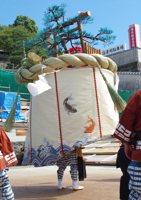 八坂町傘鉾(前日)